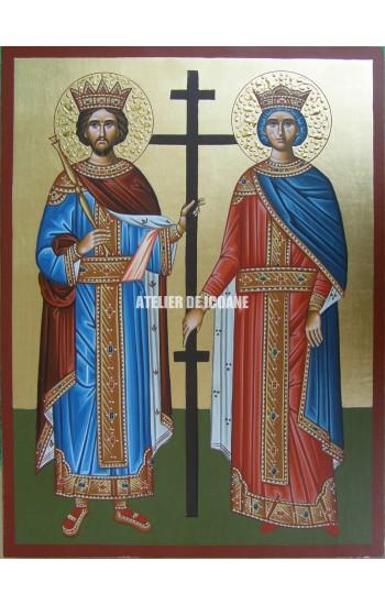 Icoana cu Sfântul Constantin și Elena - Reproducere