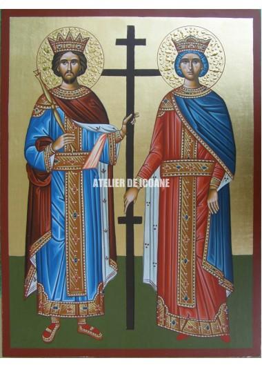 Icoana cu Sfântul Constantin și Elena - Icoane pictate