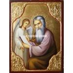 Icoana cu Sfântul Matei Evanghelistul - Icoană manual pictată