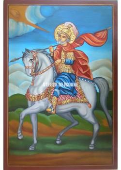 Icoana cu Sfântul Mina pe cal - Icoane pictate