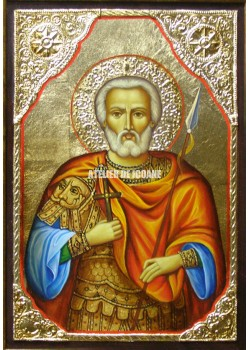 Icoana cu Sfântul Mina – cu ramă - Icoane pictate