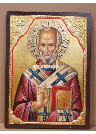 Icoana cu Sfântul Nicolae - Icoană manual pictată