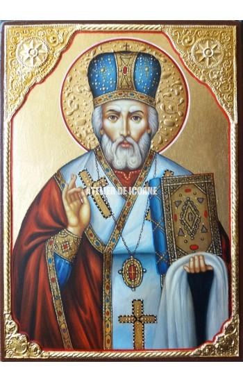 Icoana cu Sfântul Nicolae Lucrătorul de Minuni - Icoane pictate