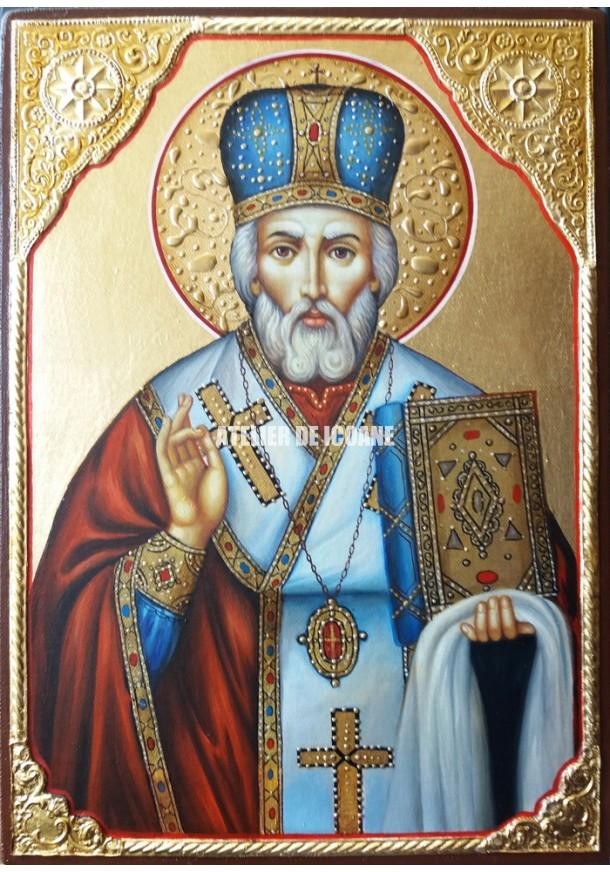 Icoana cu Sfântul Nicolae Lucrătorul de Minuni - Reproducere