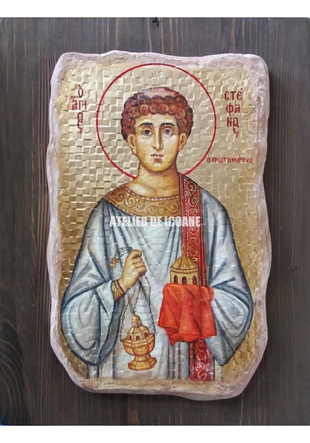 Icoana cu Sfântul Ștefan - Icoană manual pictată