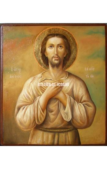 Icoana cu Sfântul Alexie omul lui Dumnezeu - Icoană manual pictată