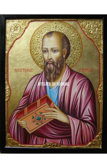 Icoana cu Sfântul Apostol Pavel - Icoană manual pictată