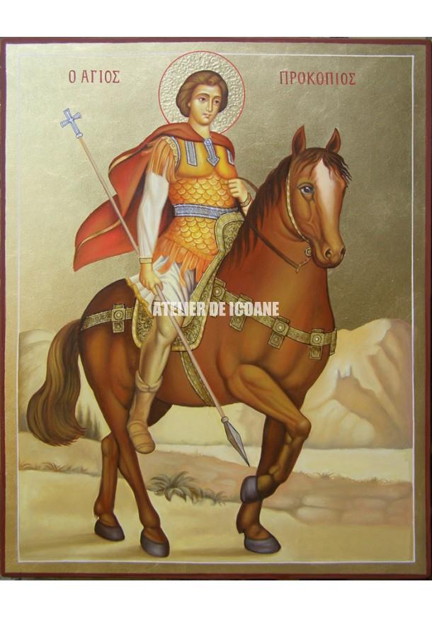 Icoana cu Sfântul Procopie - Icoană manual pictată