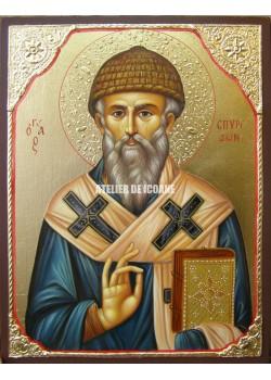 Icoana cu Sfântul Spiridon - Icoană manual pictată