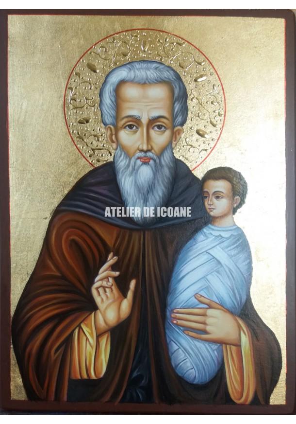 Icoana cu Sfântul Stilian - Icoană manual pictată