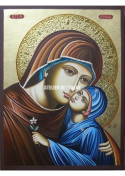 Icoana cu Sfânta Anna cu Maica Domnului  - Icoane pictate