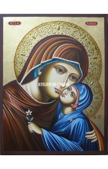 Icoana cu Sfânta Anna cu Maica Domnului - Reproducere