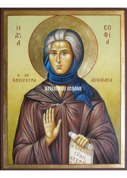 Icoana cu Sfânta Sofia - Icoană manual pictată