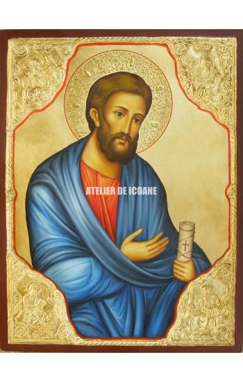 Icoana cu Sfântul Apostol Erm cu Evangheliștii - Icoană manual pictată