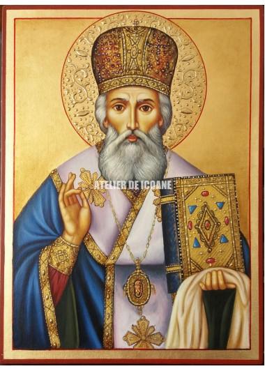 Icoana cu Sfântul Atanasie - Icoană manual pictată