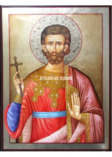 Icoana cu Sfântul Eugen - Icoană manual pictată