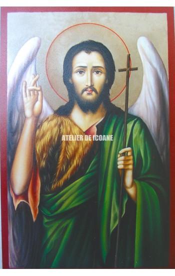 Icoana cu Sfântul Ioan Botezatorul - Icoană manual pictată