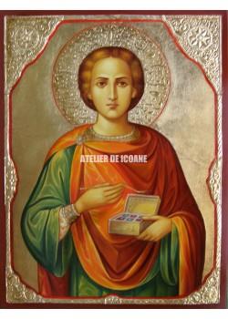 Icoana cu Sfântul Pantelimon - Icoană manual pictată