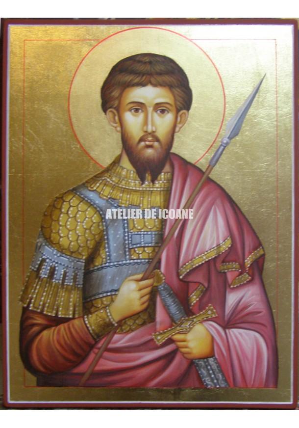 Icoana cu Sfântul Teodor - Icoană manual pictată