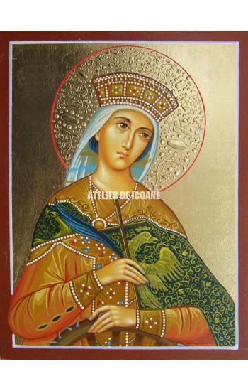 Icoana cu Sfânta Ecaterina - Icoană manual pictată