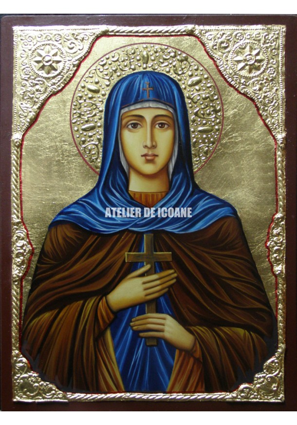 Icoana cu Sfânta Eugenia - Icoane pictate