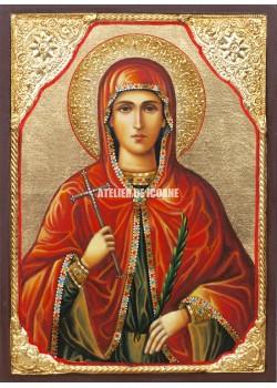 Icoana cu Sfânta Marina - Icoană manual pictată