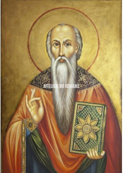 Icoana cu Sfântul Haralampie - Icoană manual pictată