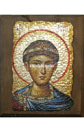 Icoana cu Sfântul Dumitru - Icoană manual pictată