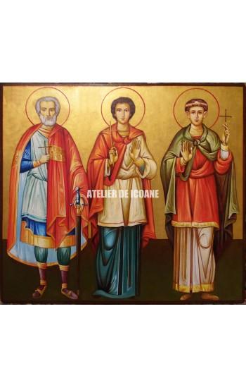 Icoana cu Sfântul Mina – Sfântul Ermoghen – Sfântul Evgraf - Reproducere