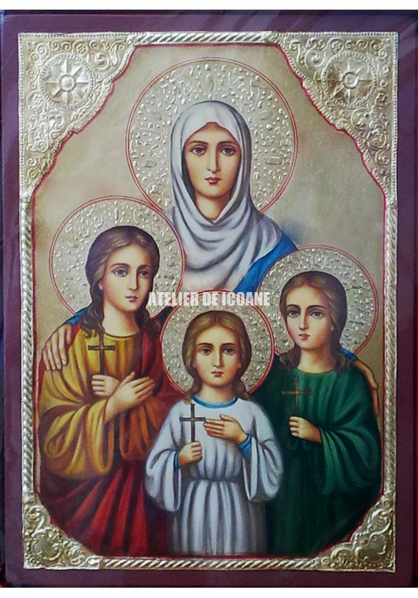 Icoana cu Sfânta Sofia – Credință - Iubire - Icoane pictate
