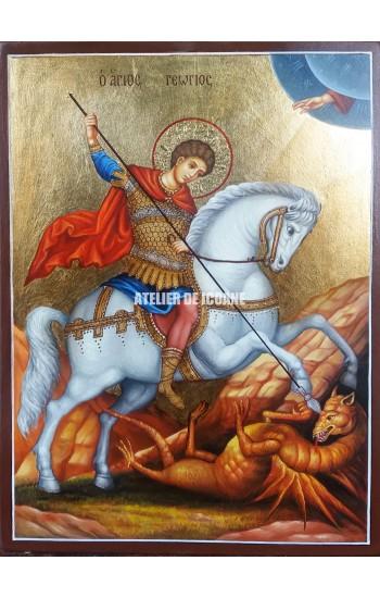 Icoana cu Sfântul Gheorghe - Icoane pictate