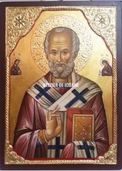 Icoana cu Sfântul Nicolae – Iisus Hristos – Sfânta Maica Domnului - Icoane pictate